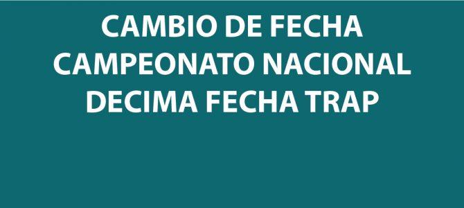 CAMBIO DE FECHA CAMPEONATO NACIONAL