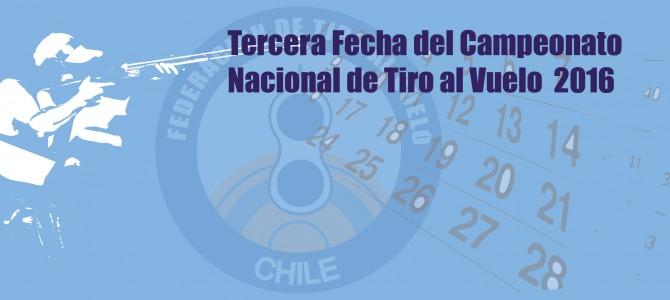 Tercera Fecha del Campeonato Nacional de Tiro al Vuelo  2016