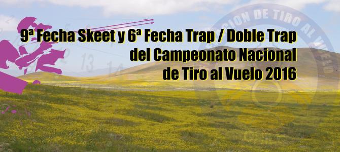 Novena Fecha Skeet y Sexta Fecha Trap / Doble Trap del Torneo Nacional 2016